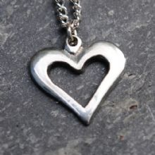 Pierced heart pendant necklace ( small ) P13